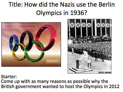 Nazi control over Germany - Lesson 5 the Nazi Olympics