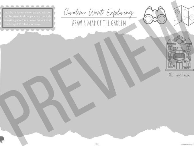 Free Coraline Activity: Draw a Map