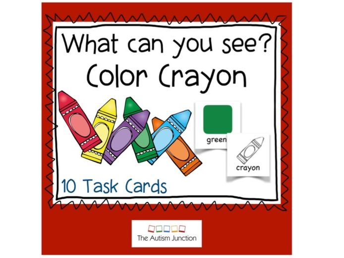 What can you see? Color Crayon US version