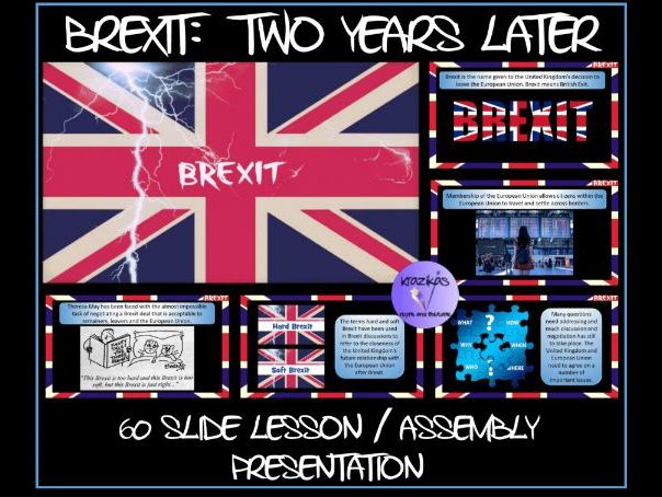 BREXIT: Two Years Later - 60 Slide Lesson / Assembly PowerPoint Presentation