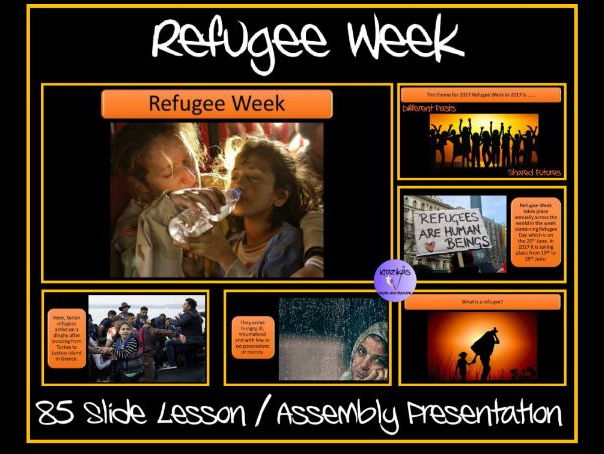 Refugee Week / Day PowerPoint Lesson / Assembly Presentation - 85 Slides