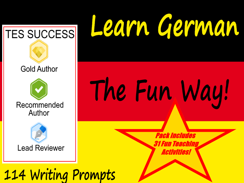 114 German Writing Worksheets For Writing Practice + 31 Fun Teaching Activities For These Cards