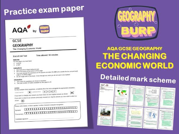 AQA GCSE Geography (9-1) - Practice Exam Paper - The Changing Economic World