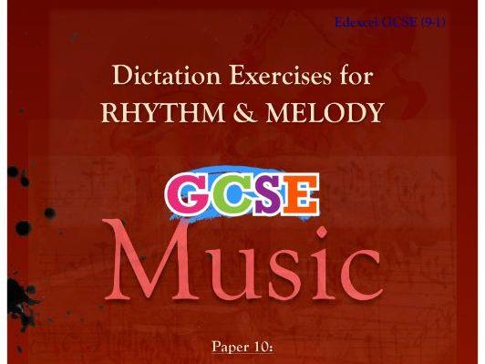DICTATION - RHYTHM & MELODY PAPER #10 [CHRISTMAS MUSIC]