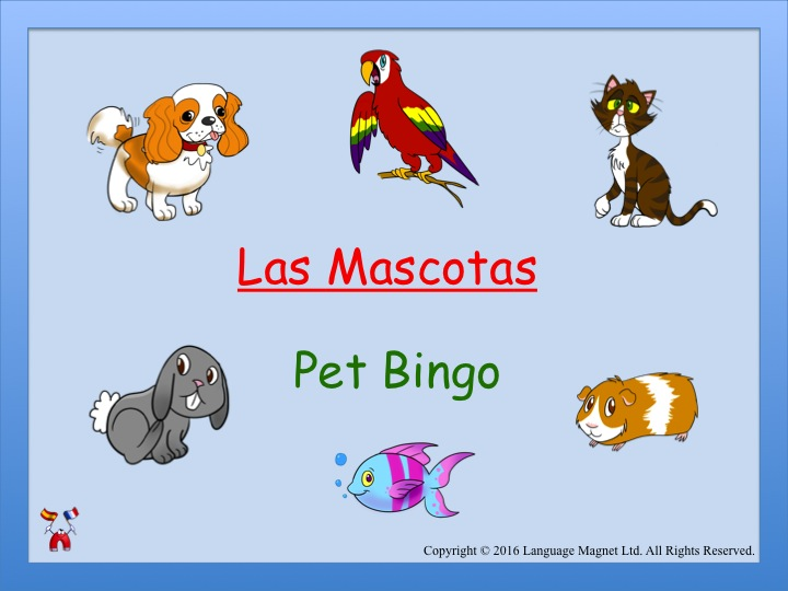 Spanish Pet Bingo Game