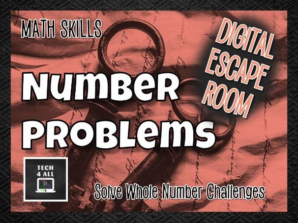 Math Whole Number Problems Escape Room