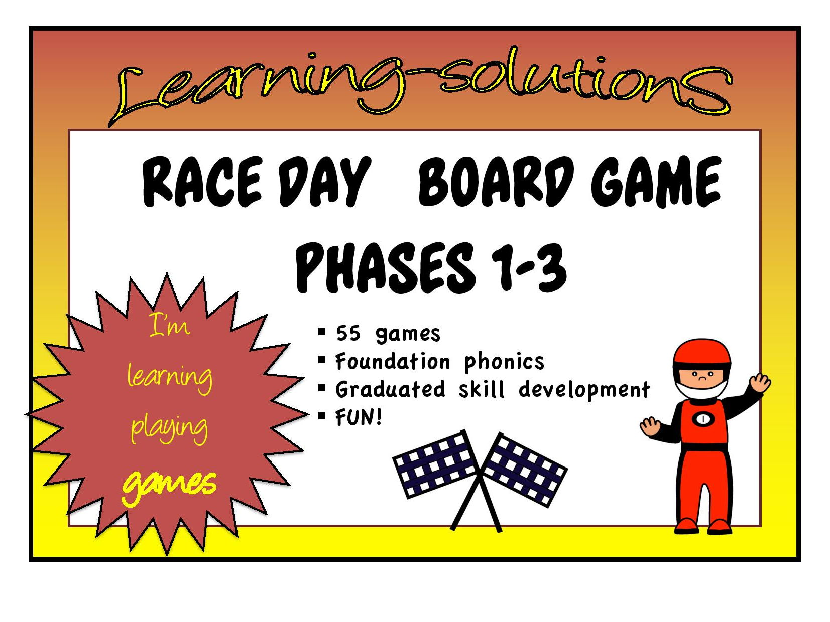 FOUNDATION PHONICS GAMES BUNDLE - RACE DAY - 65 games