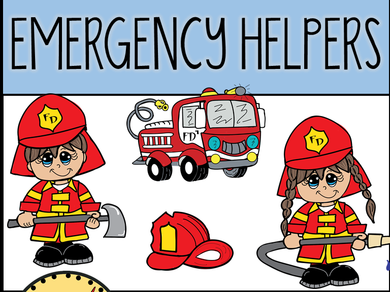 Emergency Helpers Clip Art