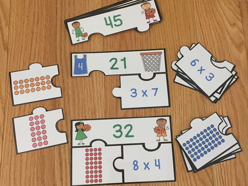 FREE Multiplication Arrays Game Puzzles Array Multiplication Game 3rd Grade 3.OA.1