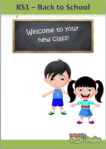 Key Stage 1/KS1 Back to School Pack