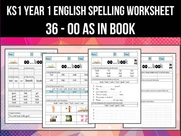 Spelling & Phonics Worksheet - ʊ sound spelled OO