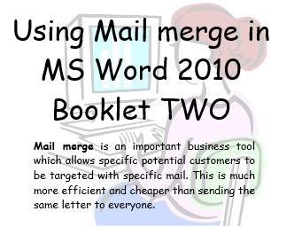 Mail Merge Office 2010  Book 2