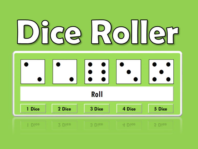 Dice Roller (1-5 dice for IWB: Probability/Games)