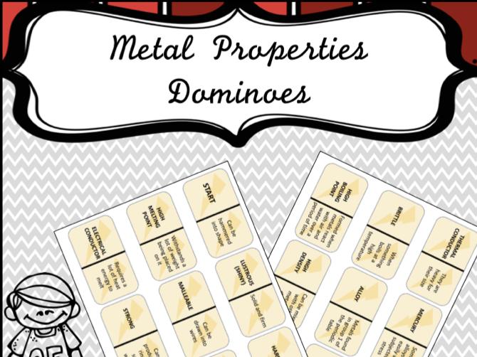 Metal Properties Dominoes