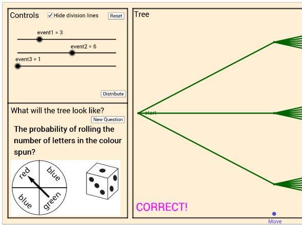 Probability tree generator