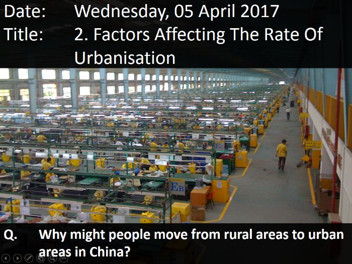 2. Factors Affecting The Rate Of Urbanisation