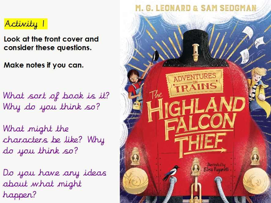 Year 5/6 - WHOLE CLASS READING- Highland Falcon Thief  Chapter 1