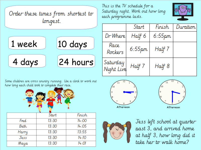 Year 3 Time: Finding Duration