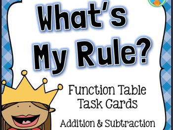 Function Tables - Addition and Subtraction Input/Output Number Patterns