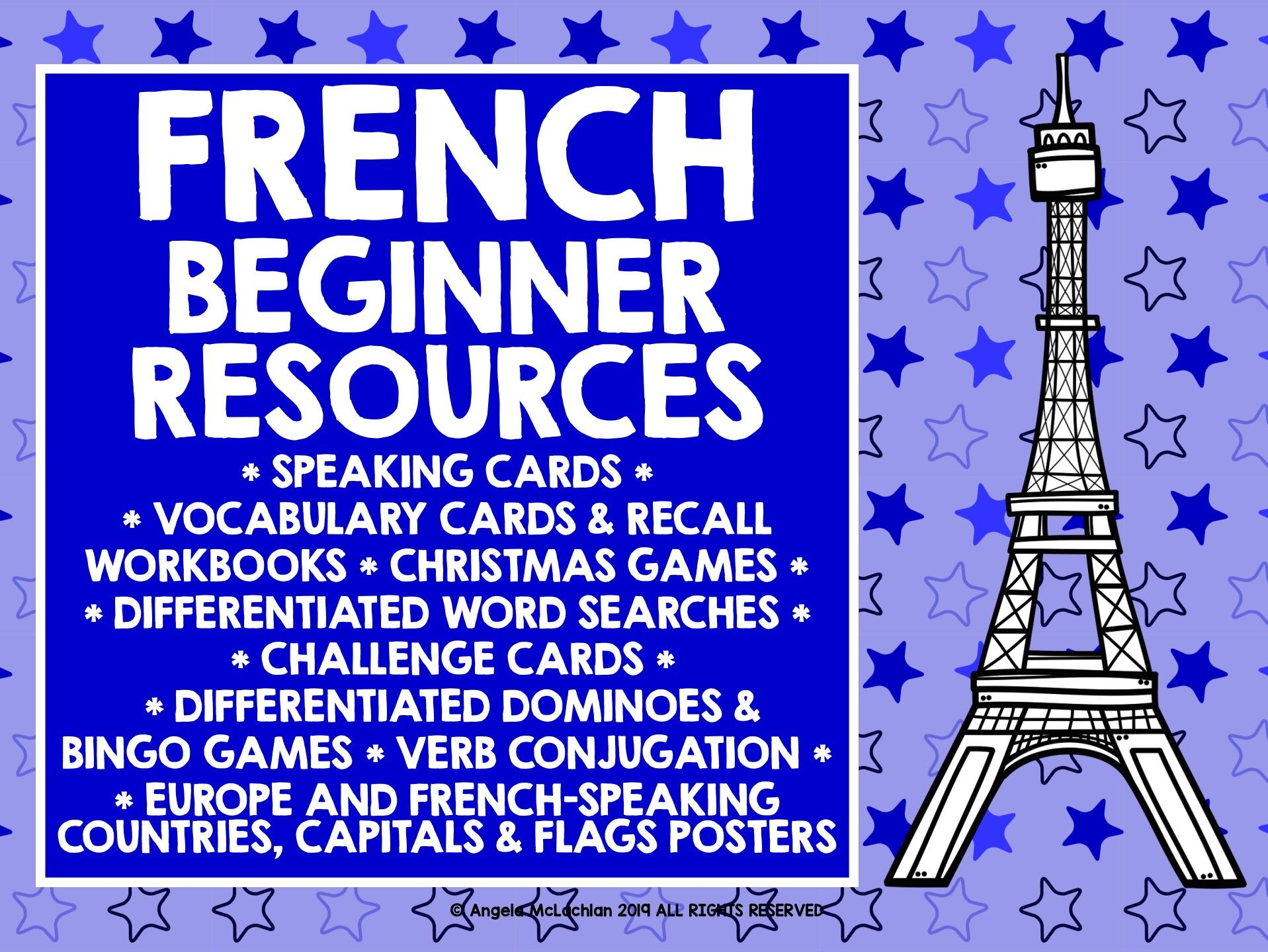 FRENCH BEGINNERS RESOURCES #1