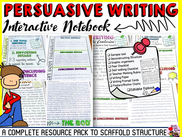 PERSUASIVE/OPINION WRITING: INTERACTIVE NOTEBOOK
