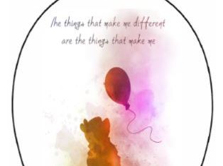 Positive quote balloons