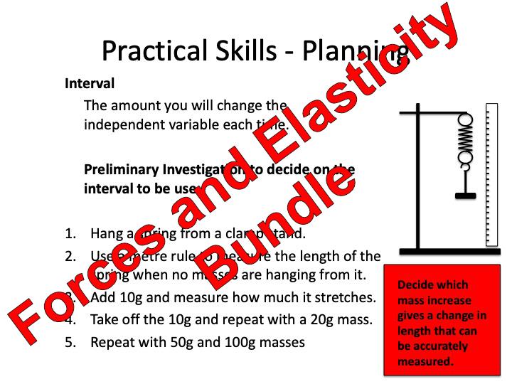 GCSE Physics Forces and Elasticity Bundle