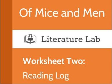 Of Mice and Men Worksheet - Reading Log