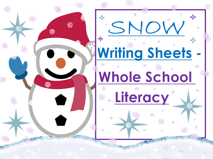 Snow Writing Fun Bundle - 7 Sheets