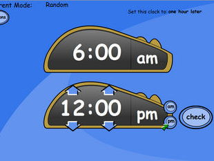 One Hour Earlier/Later - Digital Clock
