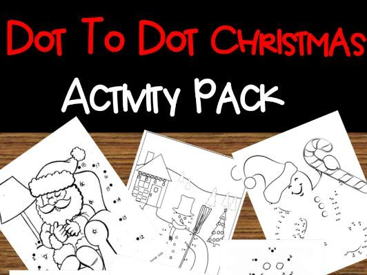 Dot To Dot Christmas Coloring Sheets