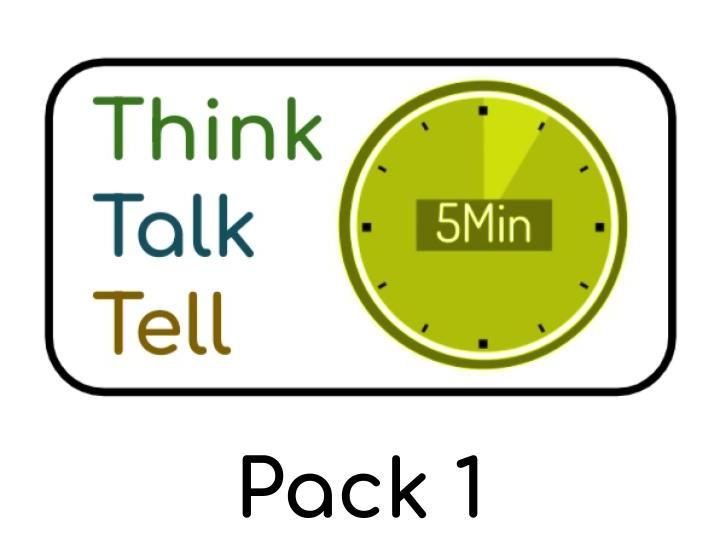 Think Talk Tell - PSHE / Philosophy questions for Children : Pack 1