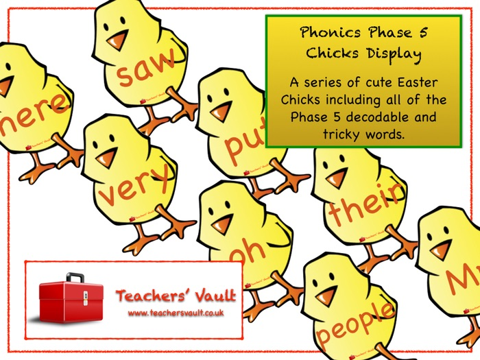 Phonics Phase 5 Chicks Display