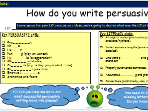 Writing an impressive, technique-filled persuasive speech  (2-3 lessons)
