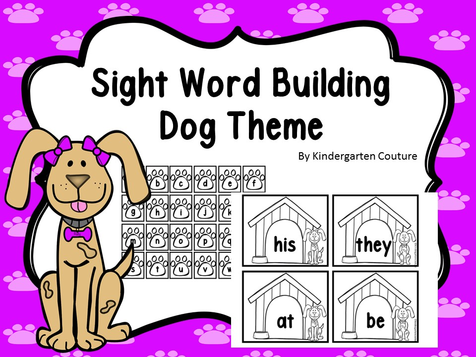Word Building (Sight Words) Dog Theme -Editable