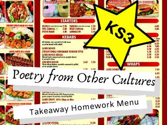 Poetry from Other Cultures KS3 Takeaway Homework Menu