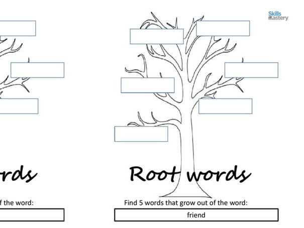 Root words tree by skillsmastery teaching resources tes for Farcical root word