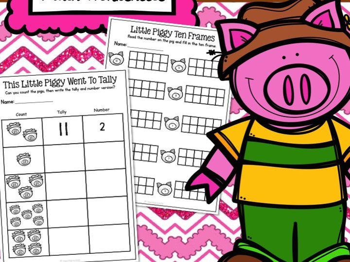 3 Little Pigs Maths Worksheets