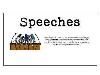 Creating Speeches (School Trip)