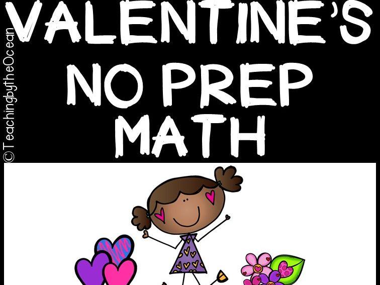 Valentine's Math NO PREP (kindergarten)