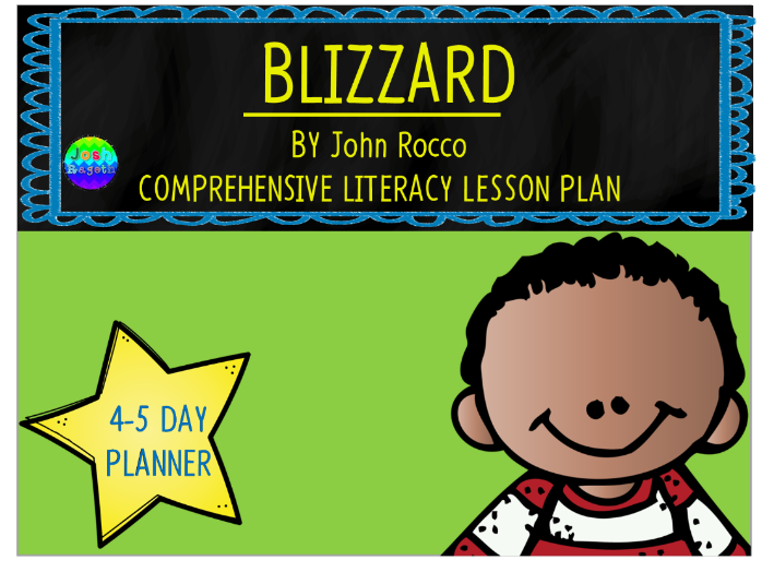 Blizzard by John Rocco 4-5 Day Lesson Plan