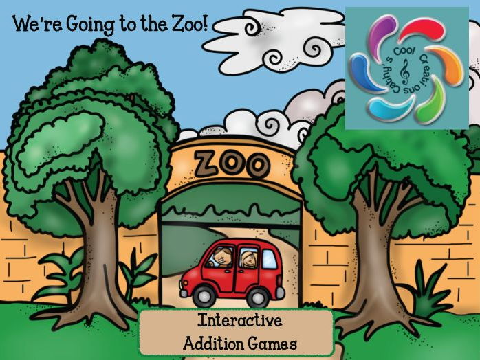 We're Going to the Zoo Interactive Addition Games- sums to 15 & sums to 100
