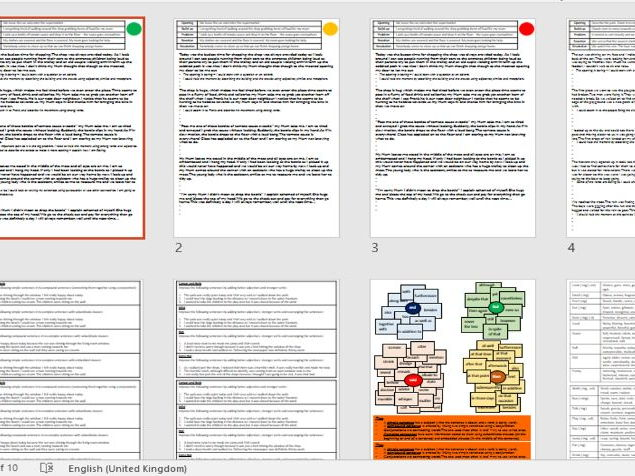 Creative writing WABOLL resources for improvement differentiated and vocabulary help sheets