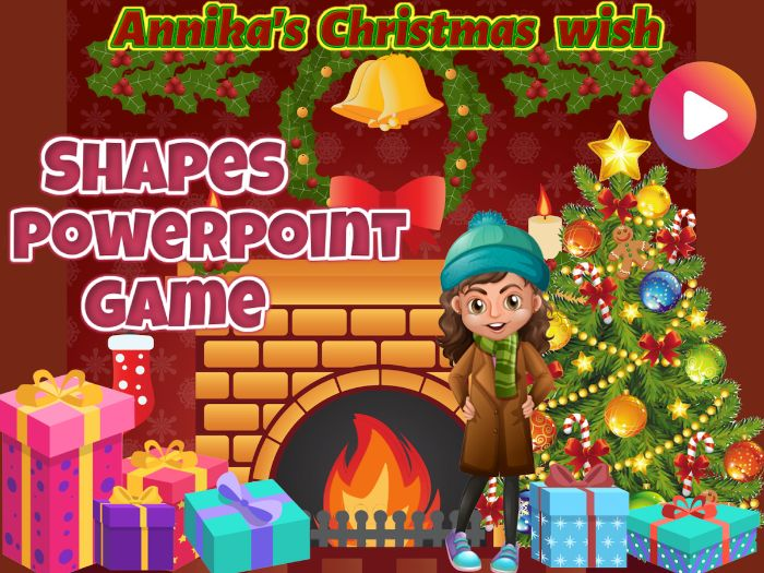 Shapes Bundle - Animated Powerpoint Game - Christmas theme