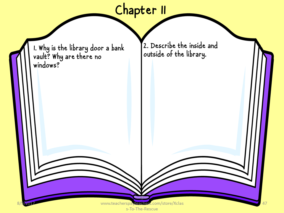 Escape from Mr. Lemoncello's Library Digital Questions and Answers