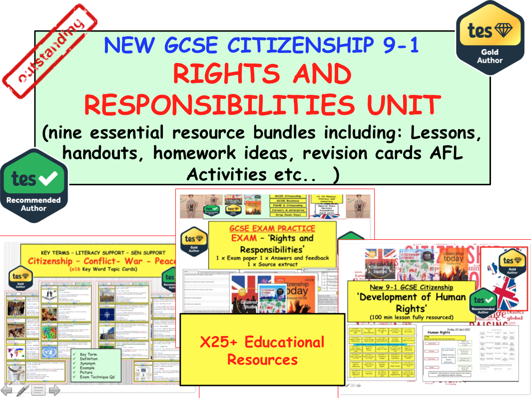 Rights and Responsibilities UNIT GCSE CITIZENSHIP 9-1