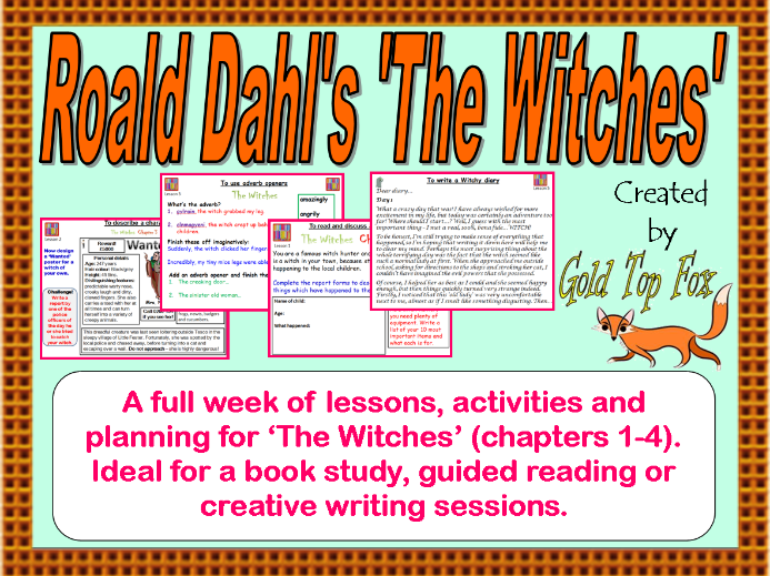 Full Week of KS2 English Lessons for Roald Dahl's 'The Witches'
