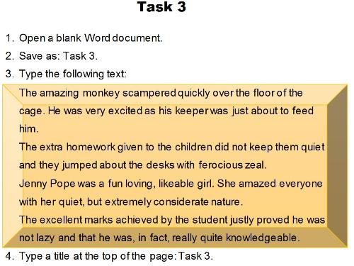 Formatting Exercise - Task 3