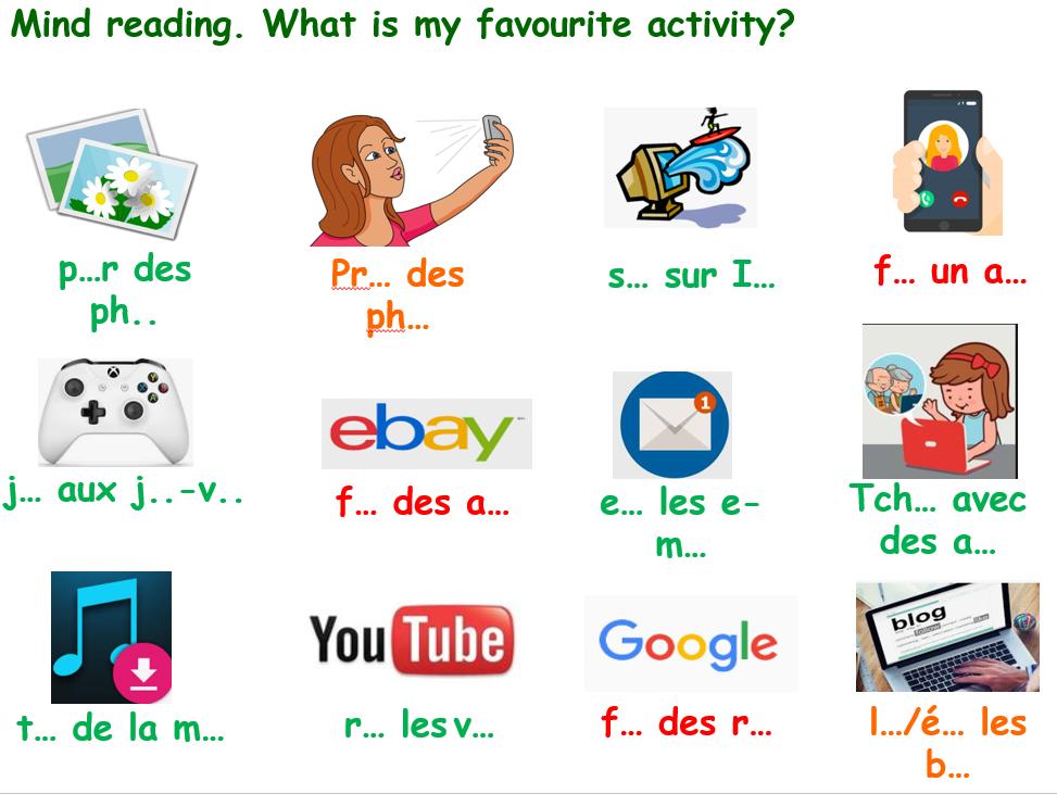 AQA French GCSE KS4 Les nouvelles technologies Pourquoi tu utilises l'internet