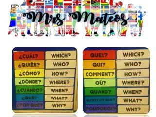 Questions display for Spanish and French